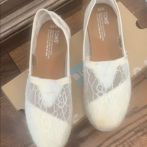 Toms Bridal Shoes 7.5 Worn Once